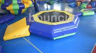 trampolín inflable del agua de la lona del PVC de 0.9m m con el haz para la piscina