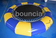 Artículo inflable redondo del trampolín del agua de la lona del PVC con la estructura de la primavera