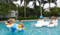 De Buena Calidad Parque acuático inflables & Juegos inflables del deporte acuático de la piscina de Bouncia para los adultos y los niños con el certificado del CE a la venta