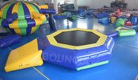 trampolín flotante inflable del agua de la lona del PVC de 0.9m m con el haz para la piscina