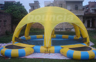 Outdoor Inflatable Water Pool With Tent Cover And Platform For Party