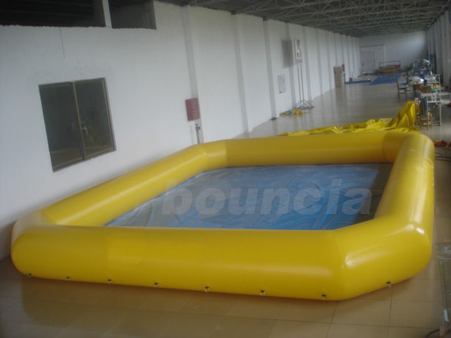 Yellow Color Square Inflatable Water Pool For Paddle Boats