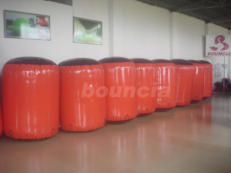 Red Inflatable Cylinder Paintball Bunker