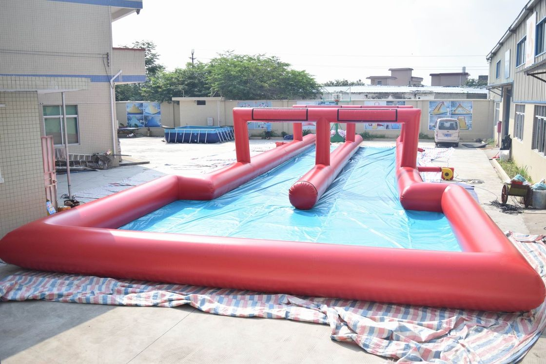 50m Inflatable Water Slide , Inflatable Long Slide For City Road